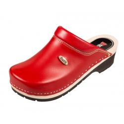 Superkomfort FPU10 červené s čiernou podrážkou