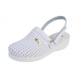Zdravotná obuv MED11p biele s pásikom