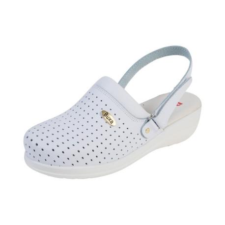 020208f2f4ce Zdravotná obuv MED11p biele s pásikom