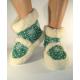Vlnené papuče/kapce zelené