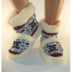 Vlnené papuče/kapce nórske tmavé