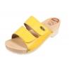 Šlapky KPU1 na gumenej podrážke žlté