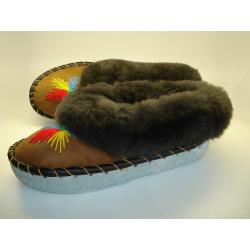 Pánske papuče-vlnené futro model 1